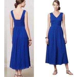 Anthropologie esme & esyllte blue maxi dress 10